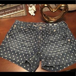 Miss me polka dot size 27 vintage denim shorts